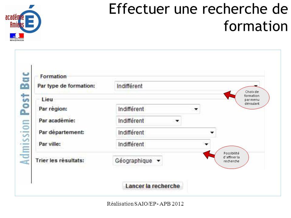 Réalisation SAIO/EP - APB 2012 Informations importantes Une fois validée, une candidature ne peut plus être supprimée de la liste ; elle peut juste être déclassée ou non classée.