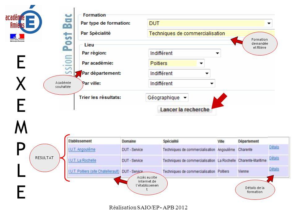 Réalisation SAIO/EP - APB 2012 Pour sinscrire Pour sinscrire puis accéder à son dossier une fois inscrit(e)