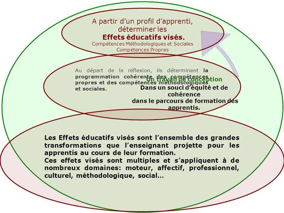 A partir dun profil dapprenti, déterminer les Effets éducatifs visés.