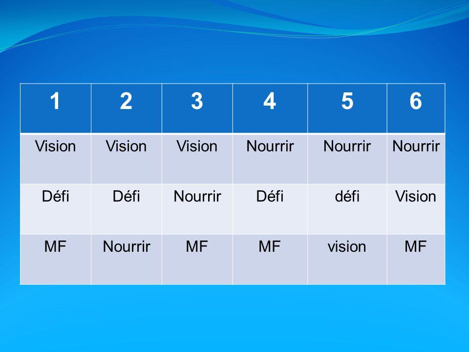 123456 Vision Nourrir Défi NourrirDéfidéfiVision MFNourrirMF visionMF