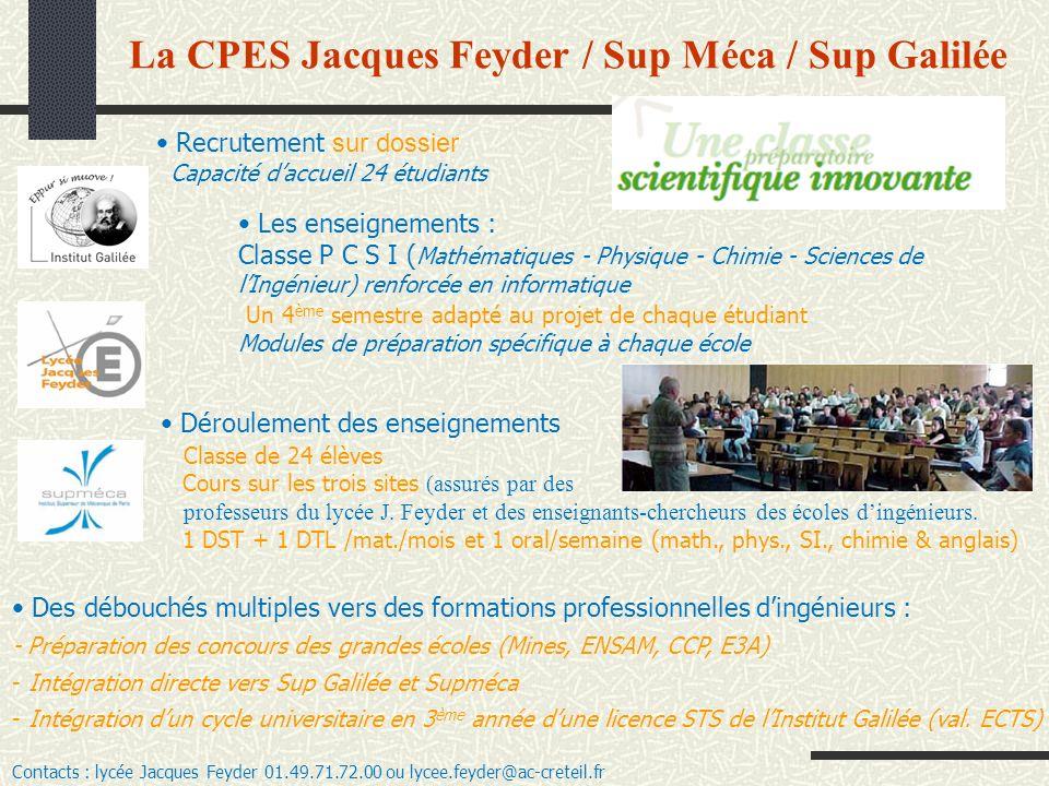 Les enseignements : Classe P C S I ( Mathématiques - Physique - Chimie - Sciences de lIngénieur) renforcée en informatique Un 4 ème semestre adapté au