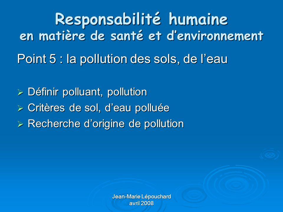 Jean-Marie Lépouchard avril 2008 Responsabilité humaine en matière de santé et denvironnement Point 6 : modification des milieux et biodiversité Définir la biodiversité Définir la biodiversité Responsabilité de lHomme dans la réduction de la biodiversité Responsabilité de lHomme dans la réduction de la biodiversité Intérêts de la biodiversité Intérêts de la biodiversité