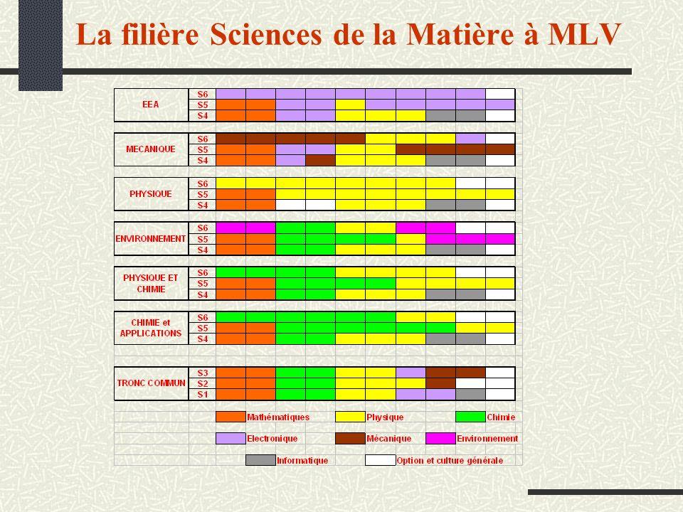 La filière Sciences de la Matière à MLV