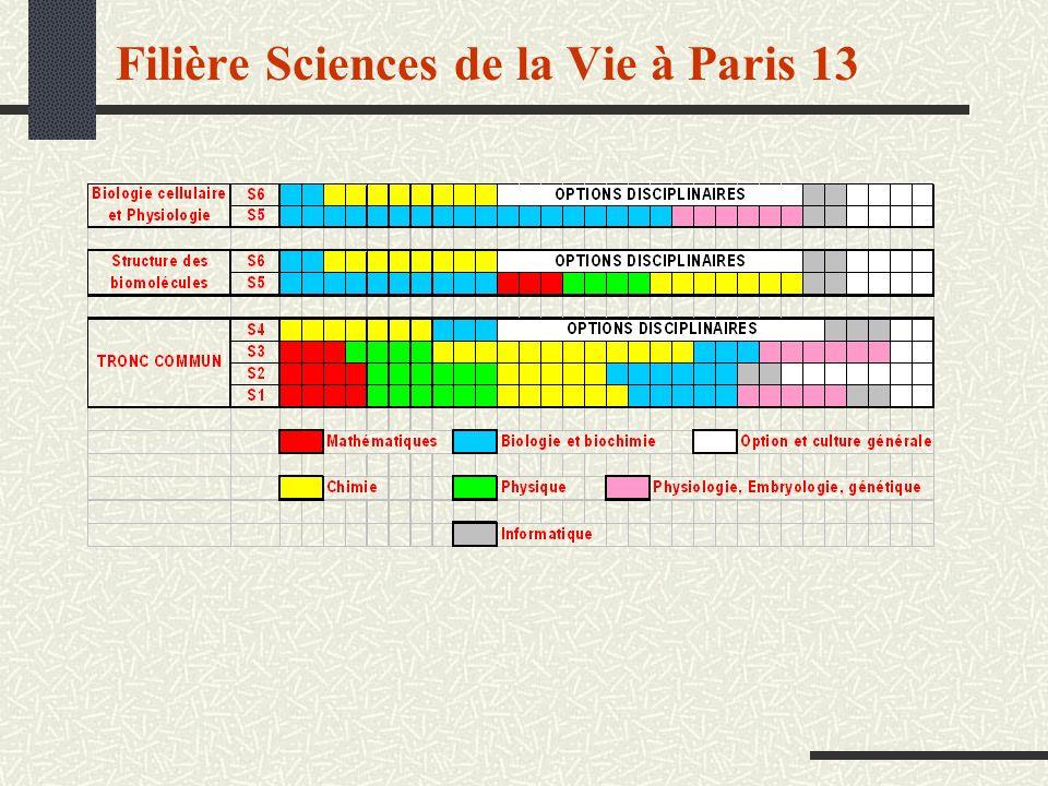 Filière Sciences de la Vie à Paris 13