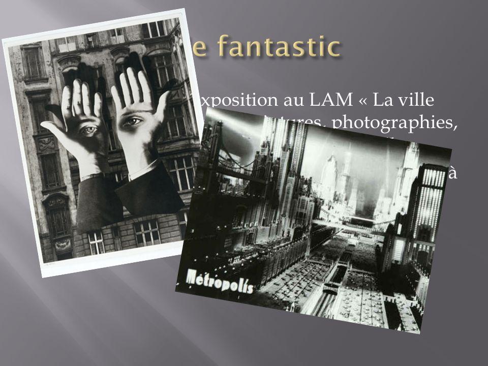 En janvier 2013 exposition au LAM « La ville magique », autour de peintures, photographies, extraits de film ayant pour thème, la ville. A partir de l