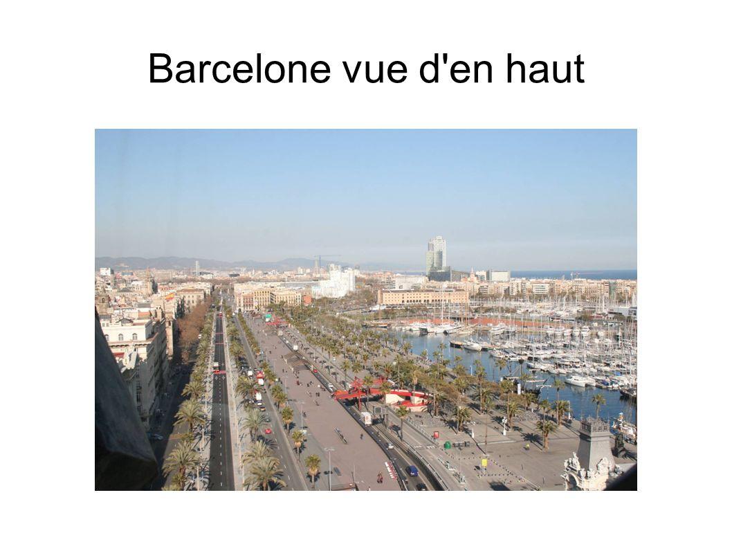 Barcelone vue d en haut