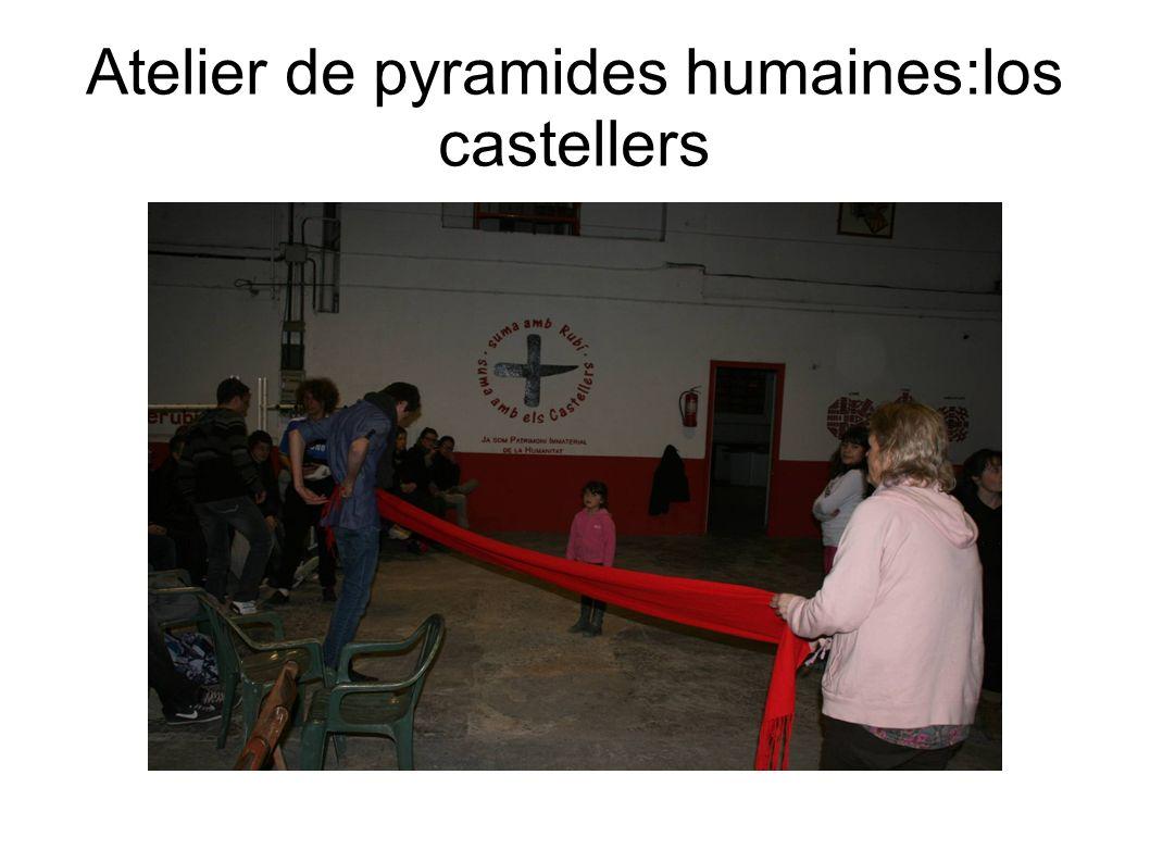 Atelier de pyramides humaines:los castellers