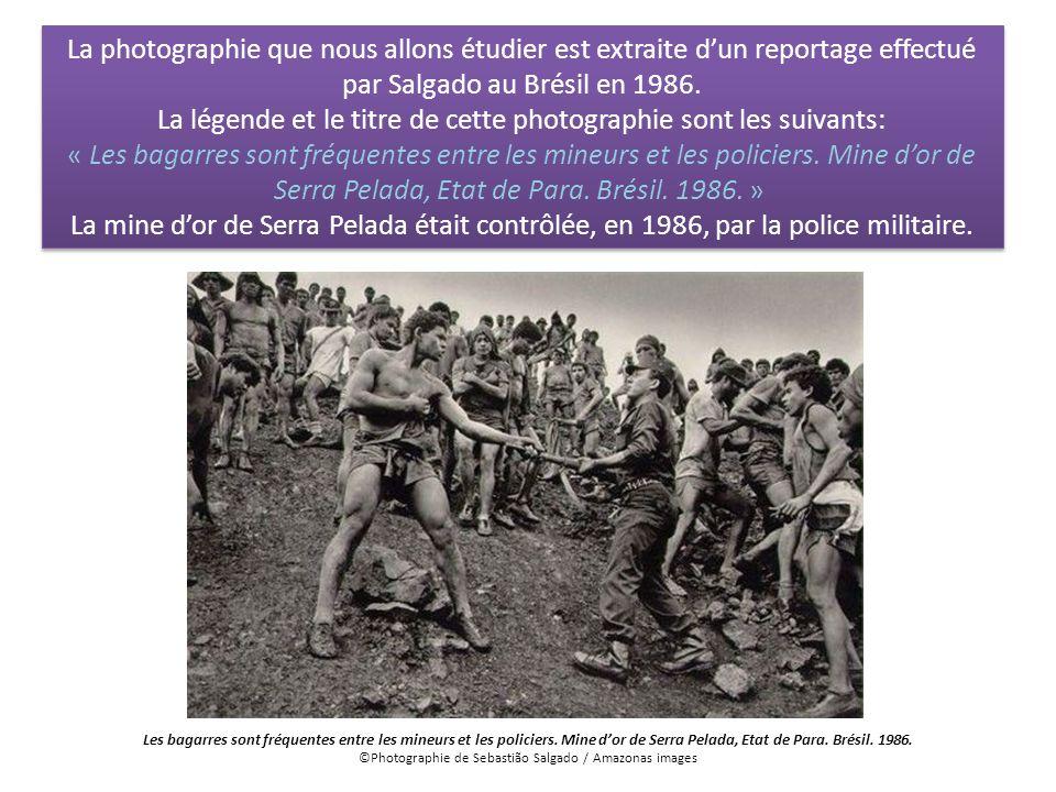 La photographie que nous allons étudier est extraite dun reportage effectué par Salgado au Brésil en 1986. La légende et le titre de cette photographi