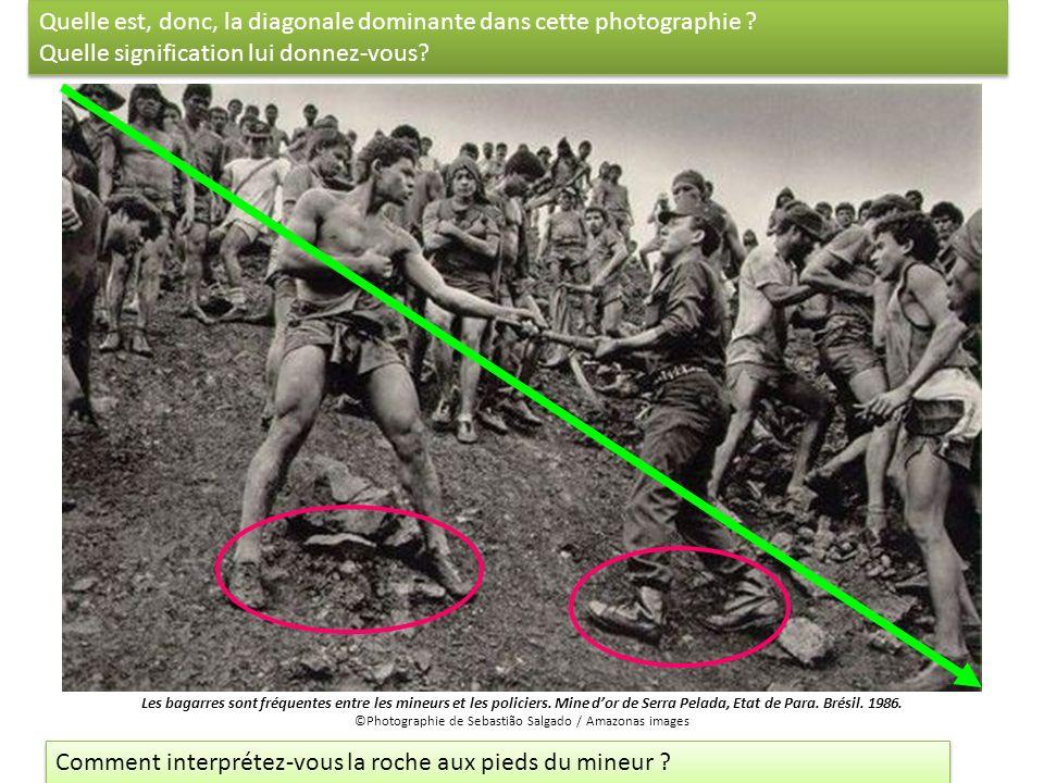Quelle est, donc, la diagonale dominante dans cette photographie ? Quelle signification lui donnez-vous? Quelle est, donc, la diagonale dominante dans