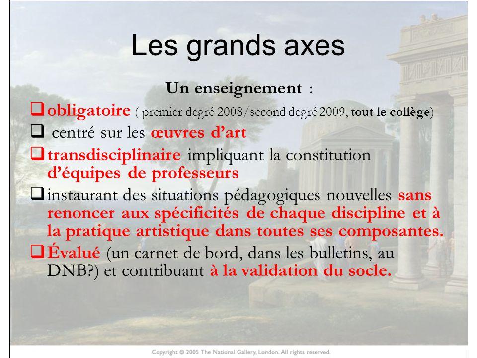 HISTOIRE DES ARTS Larrêté dorganisation structure cet enseignement autour de trois piliers