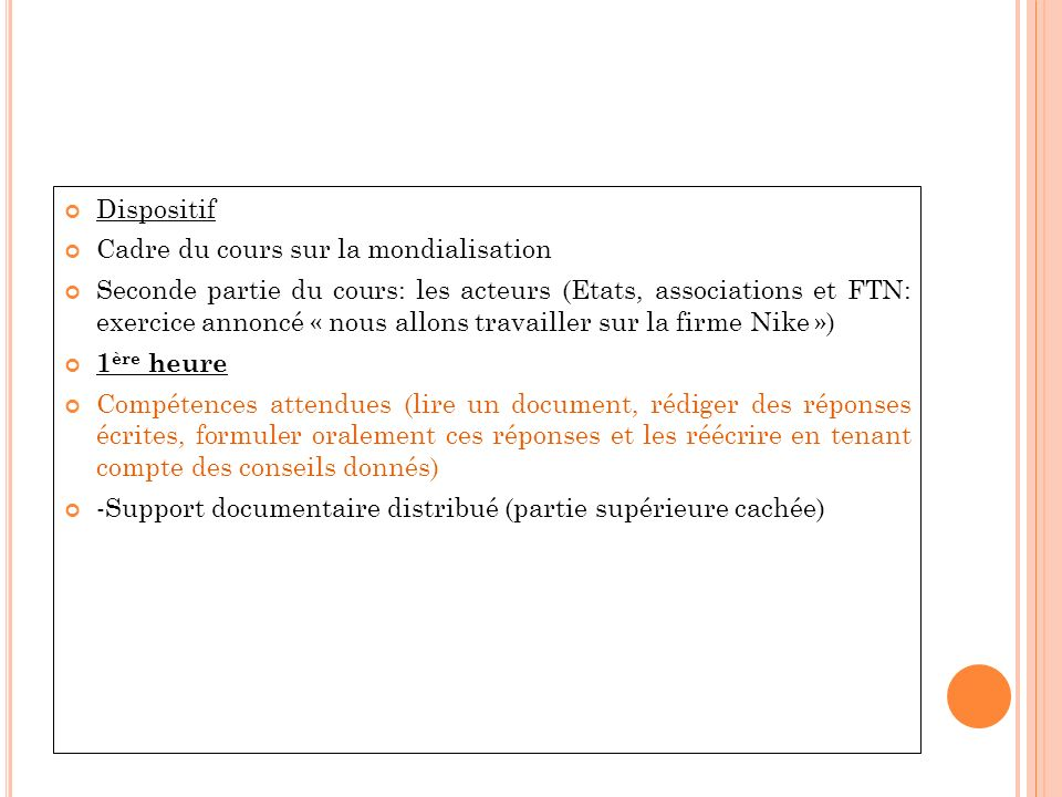 - vérification orale des réponses - assemblage des réponses dans un paragraphe unique