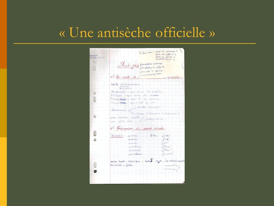 « Une antisèche officielle »