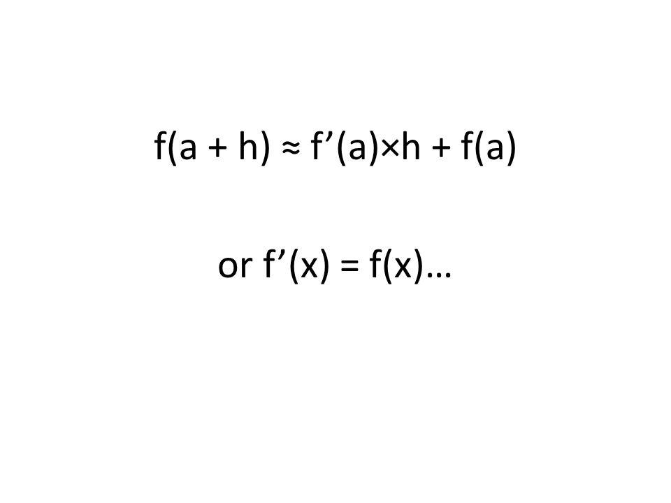 f(a + h) f(a)×h + f(a) or f(x) = f(x)…