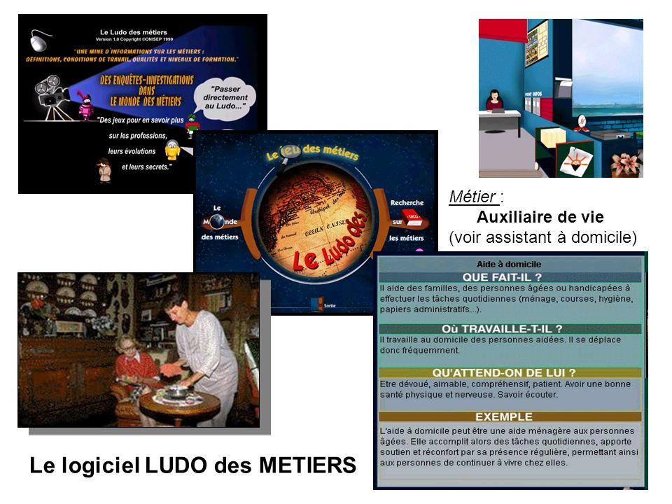 Le logiciel LUDO des METIERS Métier : Auxiliaire de vie (voir assistant à domicile)