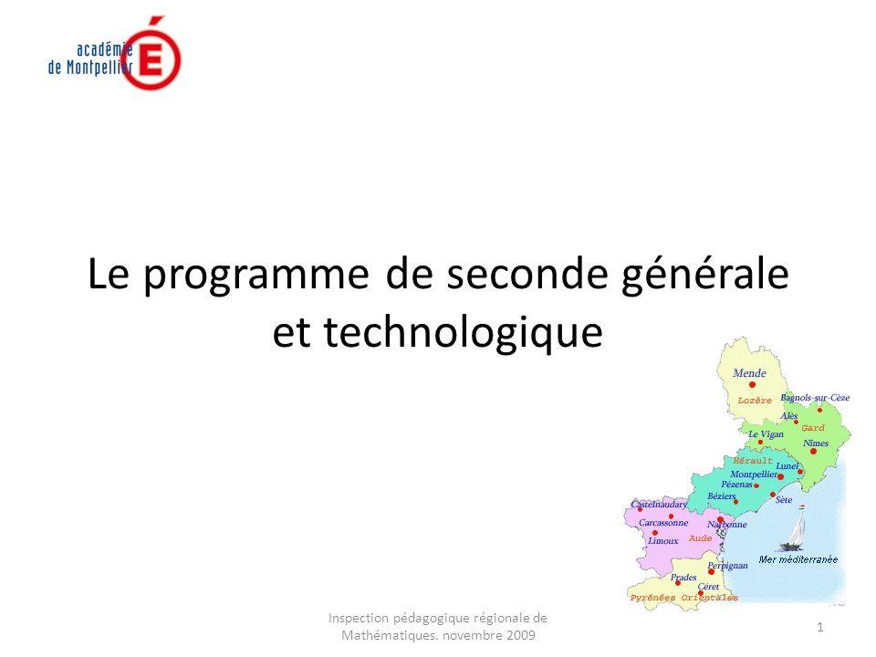 Inspection pédagogique régionale de Mathématiques.