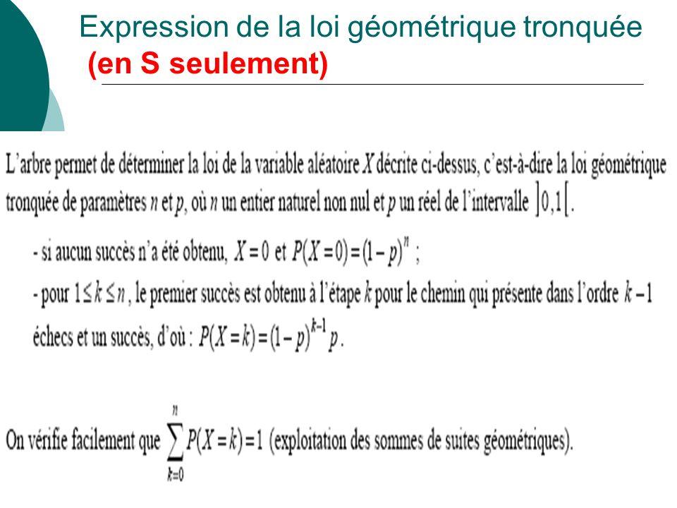 Simulations et représentations graphiques (en S seulement)