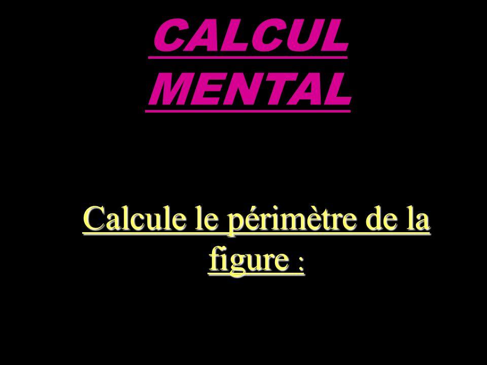 CALCUL MENTAL Calcule le périmètre de la figure :