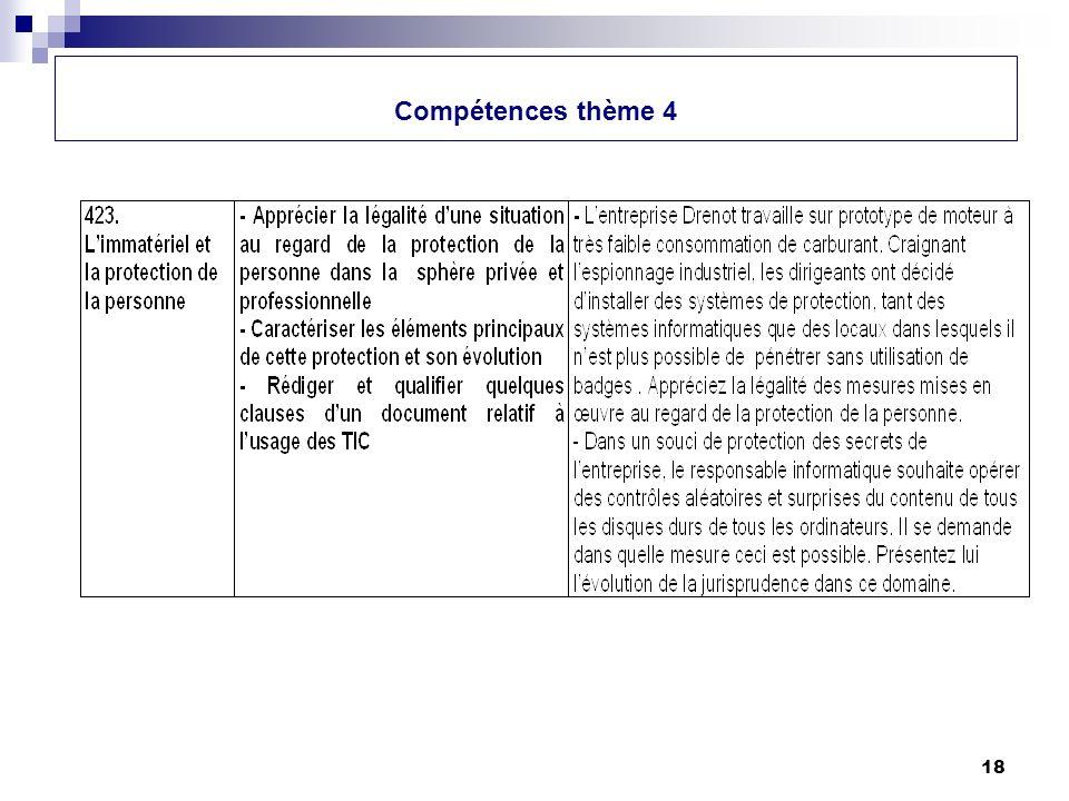 18 Compétences thème 4