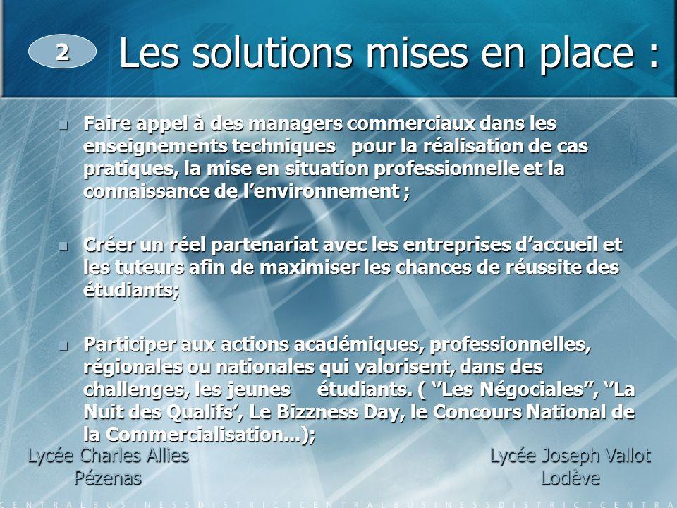 Faire appel à des managers commerciaux dans les enseignements techniques pour la réalisation de cas pratiques, la mise en situation professionnelle et