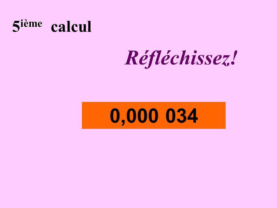 Écrivez ! 4 ième 4 ième calcul 23 560 000