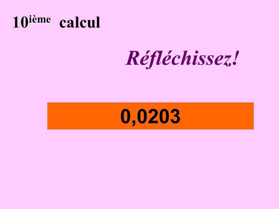 Écrivez ! 9 ième 9 ième calcul 0,043x10 4