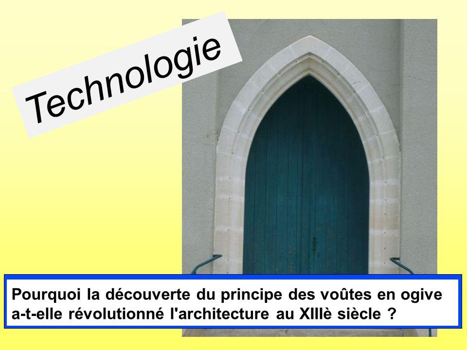 Technologie Pourquoi la découverte du principe des voûtes en ogive a-t-elle révolutionné l'architecture au XIIIè siècle ?