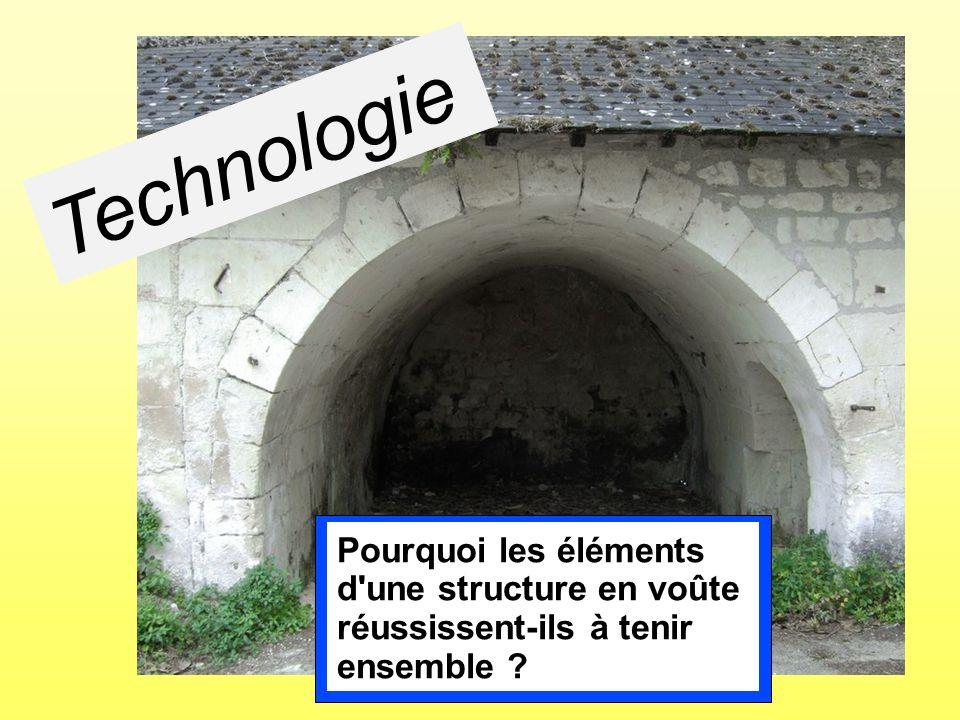 Technologie Pourquoi les éléments d'une structure en voûte réussissent-ils à tenir ensemble ?