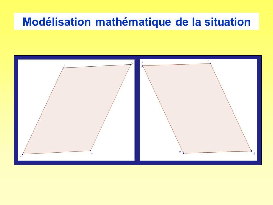 Modélisation mathématique de la situation