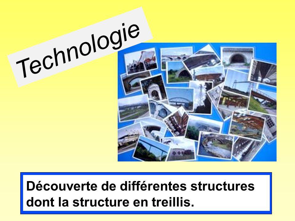 Découverte de différentes structures dont la structure en treillis. Technologie