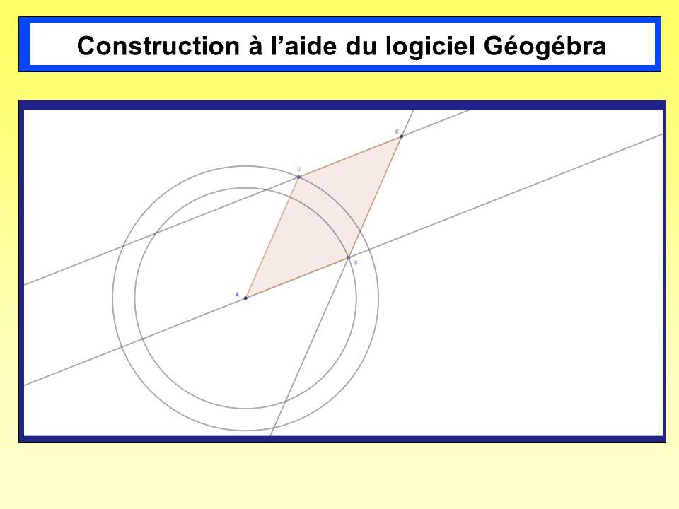 Construction à laide du logiciel Géogébra