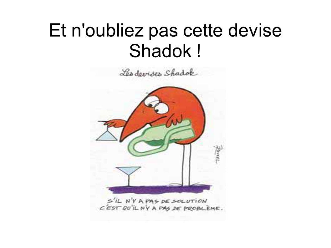 Et n'oubliez pas cette devise Shadok !