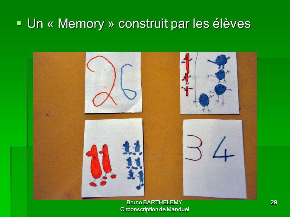 Bruno BARTHELEMY, Circonscription de Manduel 29 Un « Memory » construit par les élèves Un « Memory » construit par les élèves