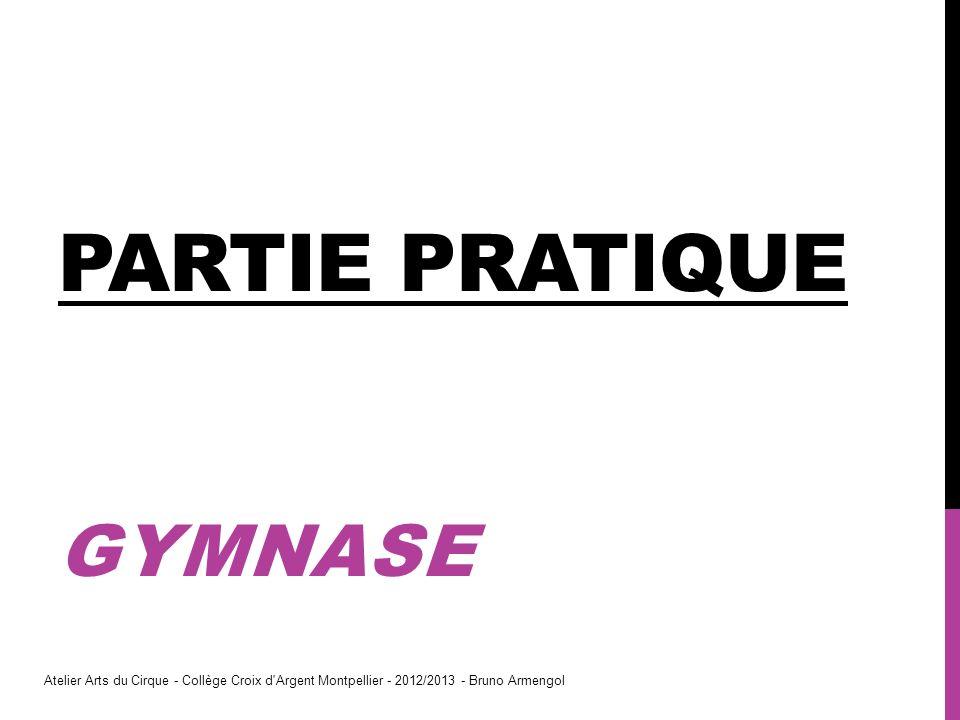 PARTIE PRATIQUE GYMNASE Atelier Arts du Cirque - Collège Croix d'Argent Montpellier - 2012/2013 - Bruno Armengol