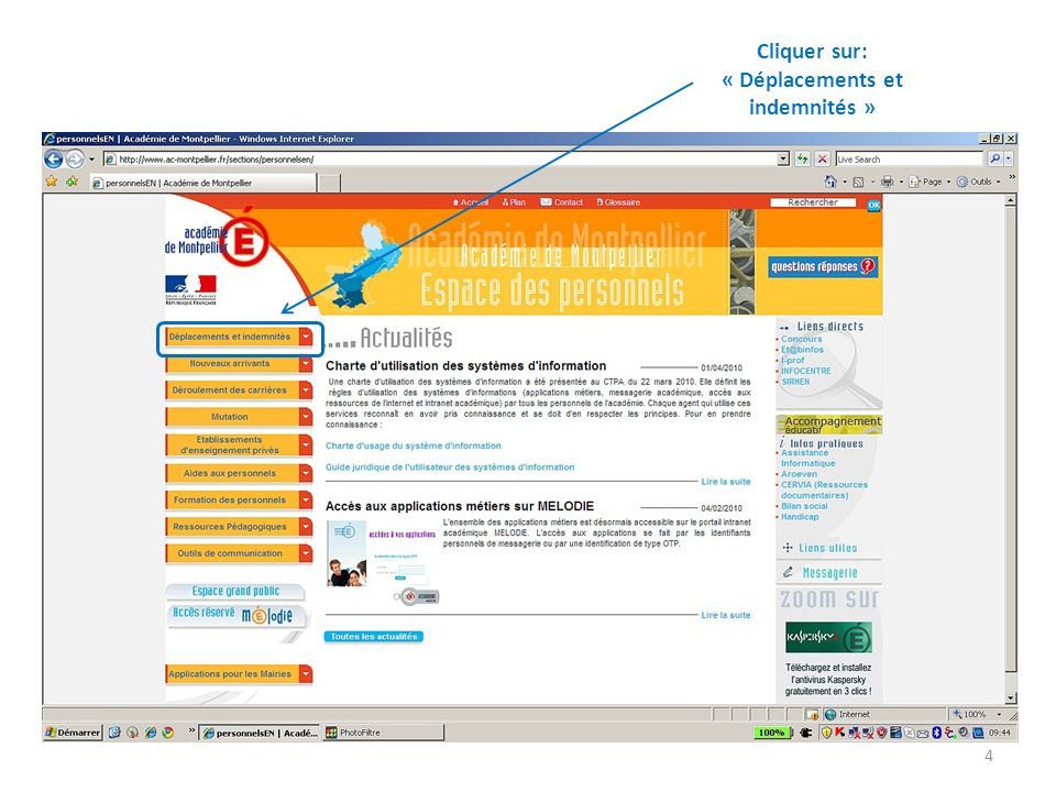Dans votre boite mail, vous avez un message qui vous informe que lOM ZW66T a été validé par lIEN (validation hiérarchique) ZW66T (Dupond Marc) Cliquer sur lobjet du message pour louvrir 35