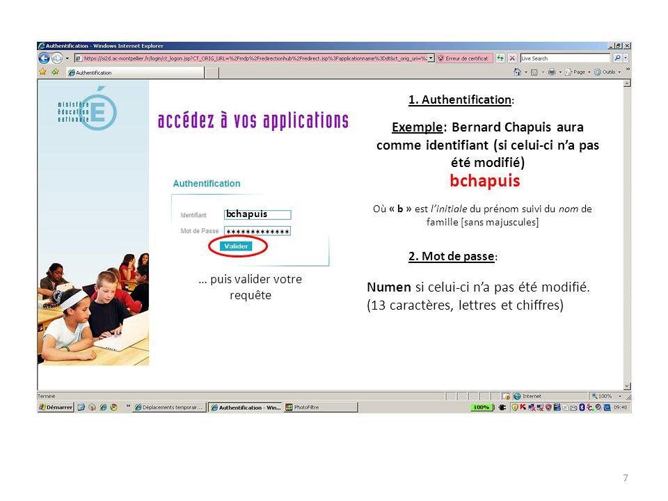 Votre nom Bernard Chapuis 12/05/1010:36 Informations concernant la dernière connexion Actuellement vide car aucun OM na encore été créé Etape 1: création de lOM: saisie des renseignements de gestion 8