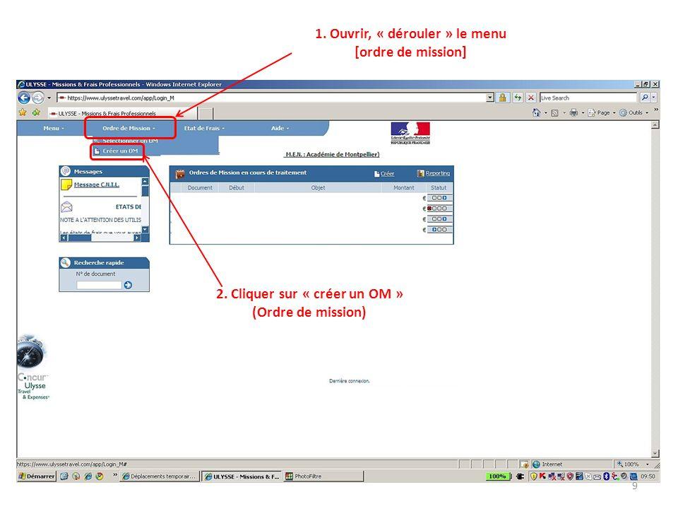 Bernard Chapuis Valider la 4 ème option: Initialisation dun OM à partir dun OM permanent Votre OM permanent apparait au bas du document précédent.