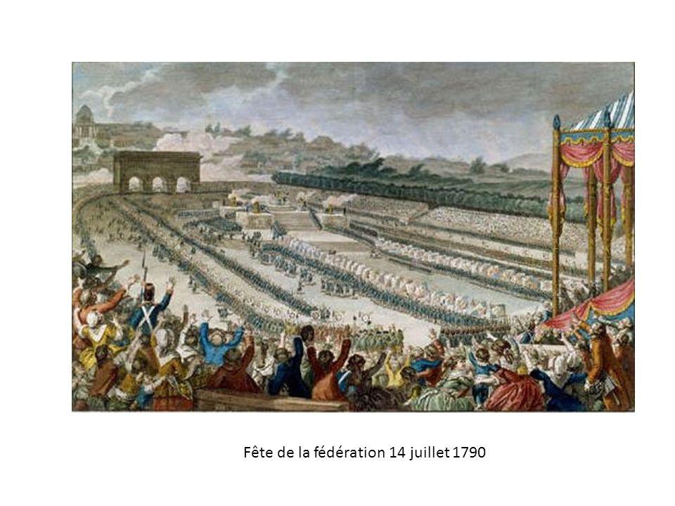 Fête de la fédération 14 juillet 1790