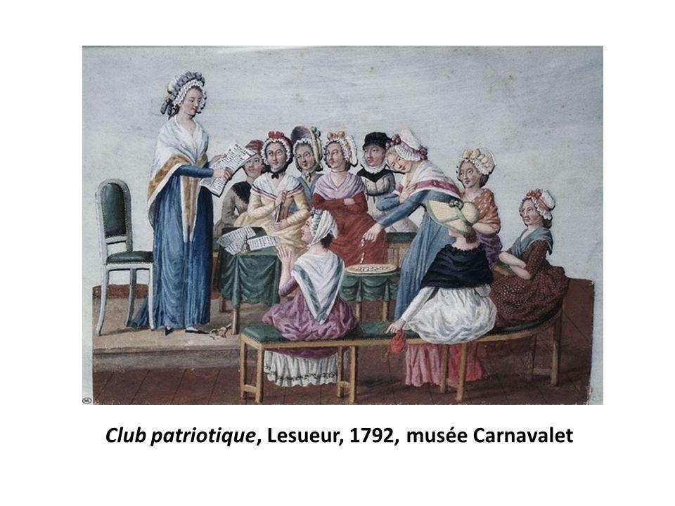 Club patriotique, Lesueur, 1792, musée Carnavalet
