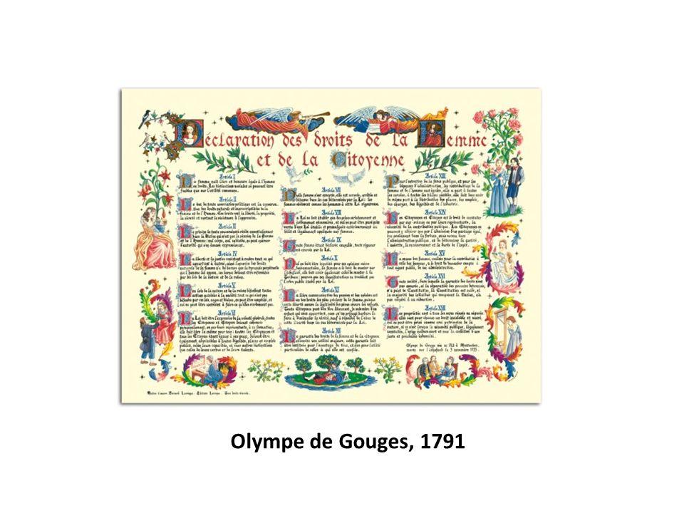 Olympe de Gouges, 1791