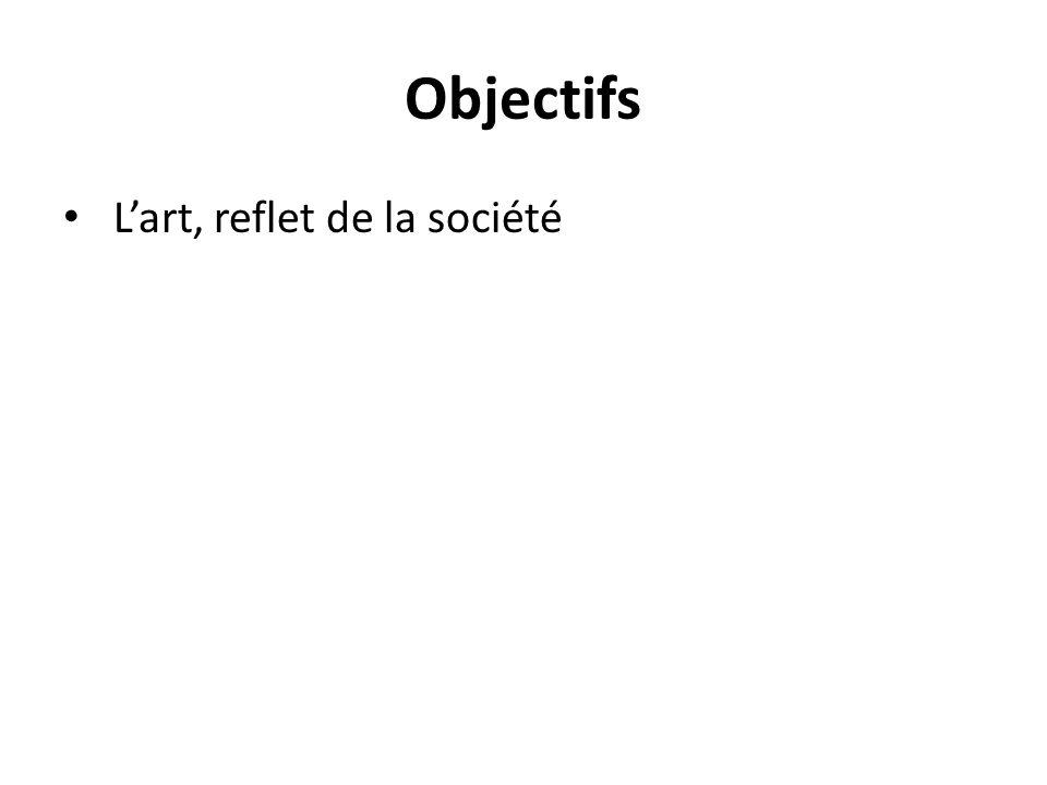 Objectifs Lart, reflet de la société