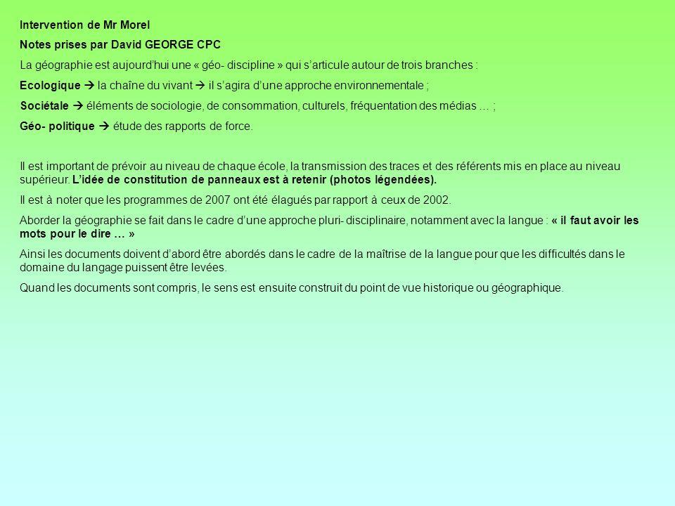 Daprès le document élaboré par Mr Morel, professeur dHistoire- Géographie au centre IUFM dOutreau.