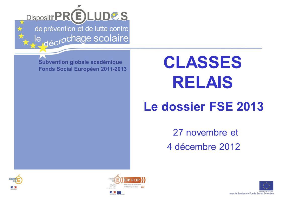 Plan de la réunion 1.Le dossier de demande de subvention FSE 2013 Nouveautés Eléments pédagogiques (DSDEN) Eléments quantitatifs et financiers (GIP-FCIP) Calendrier - Procédures 2.Retour sur quelques principes de gestion du FSE