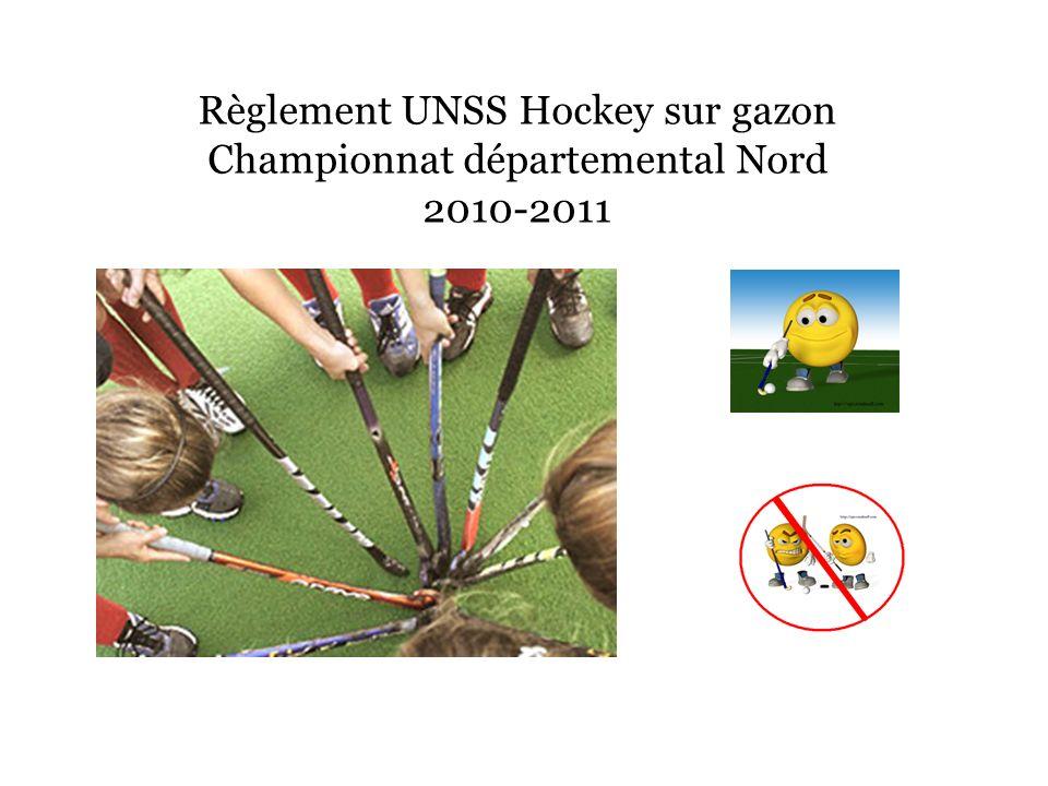 Règlement UNSS Hockey sur gazon Championnat départemental Nord 2010-2011