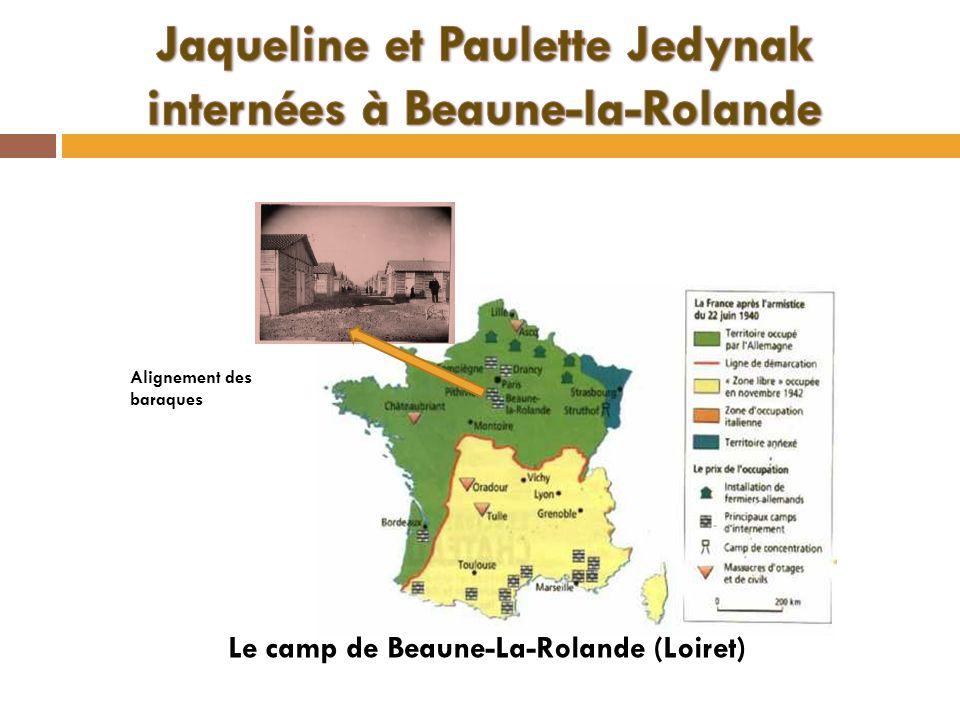 Alignement des baraques Le camp de Beaune-La-Rolande (Loiret)