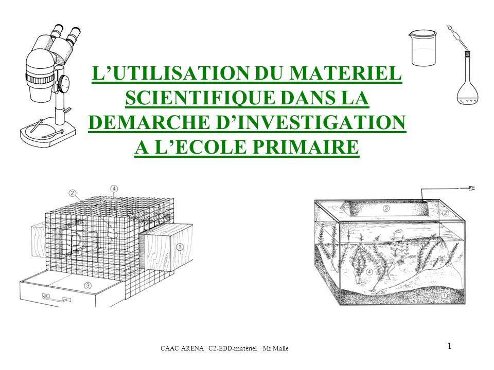 CAAC ARENA C2-EDD-matériel Mr Malle 2 POURQUOI OBSERVER LE REEL.