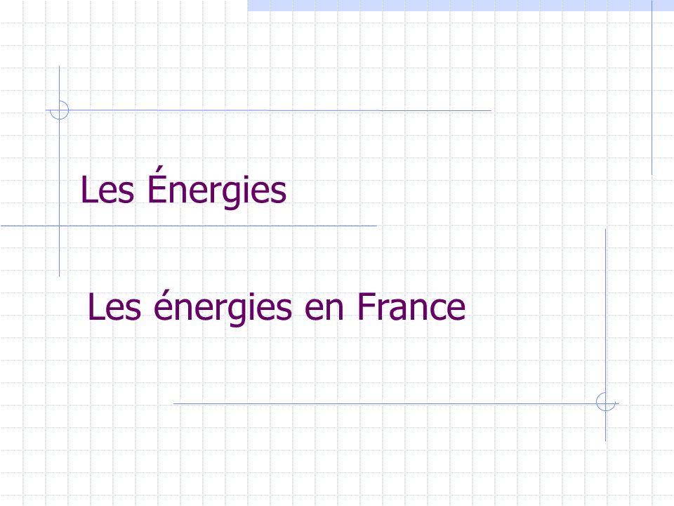 Les Énergies Les énergies en France