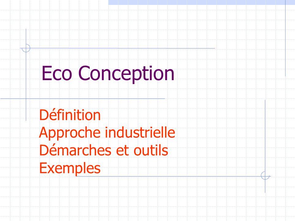 Définition Approche industrielle Démarches et outils Exemples Eco Conception
