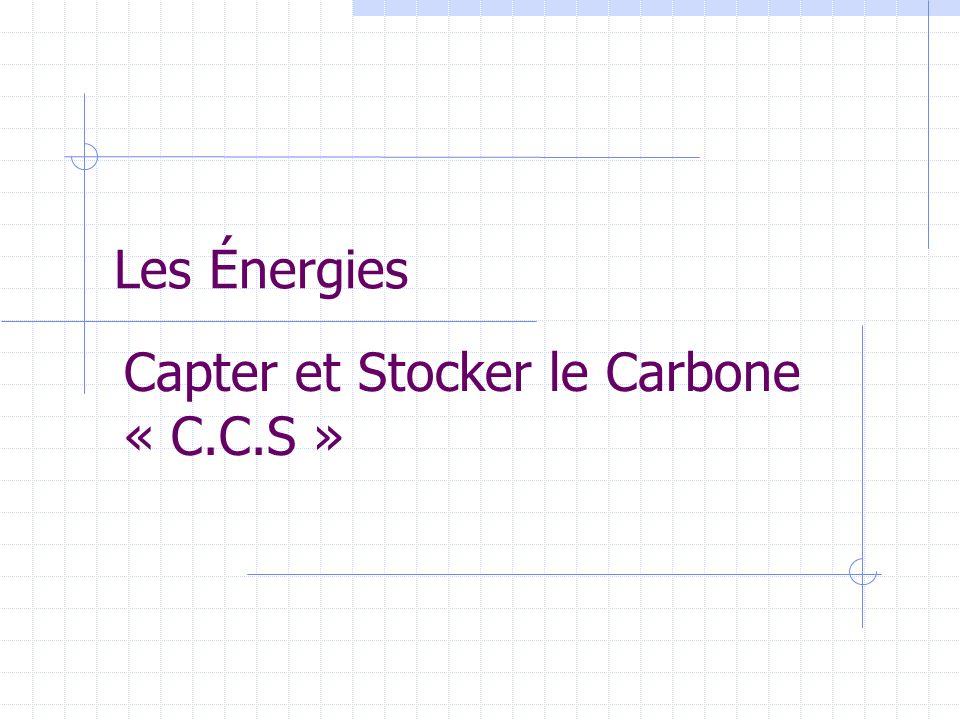 Les Énergies Capter et Stocker le Carbone « C.C.S »