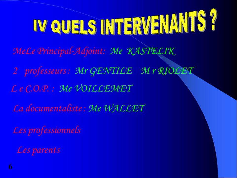 MeLe Principal-Adjoint: Me KASTELIK 2professeurs : Mr GENTILE M r RIOLET L e C.O.P.