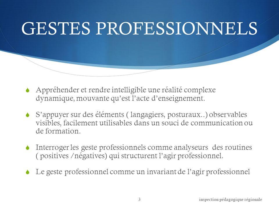 GESTES PROFESSIONNELS Les gestes professionnels comme signe, symbole, symptôme dune intention, conviction, représentation, des raisons dagir.